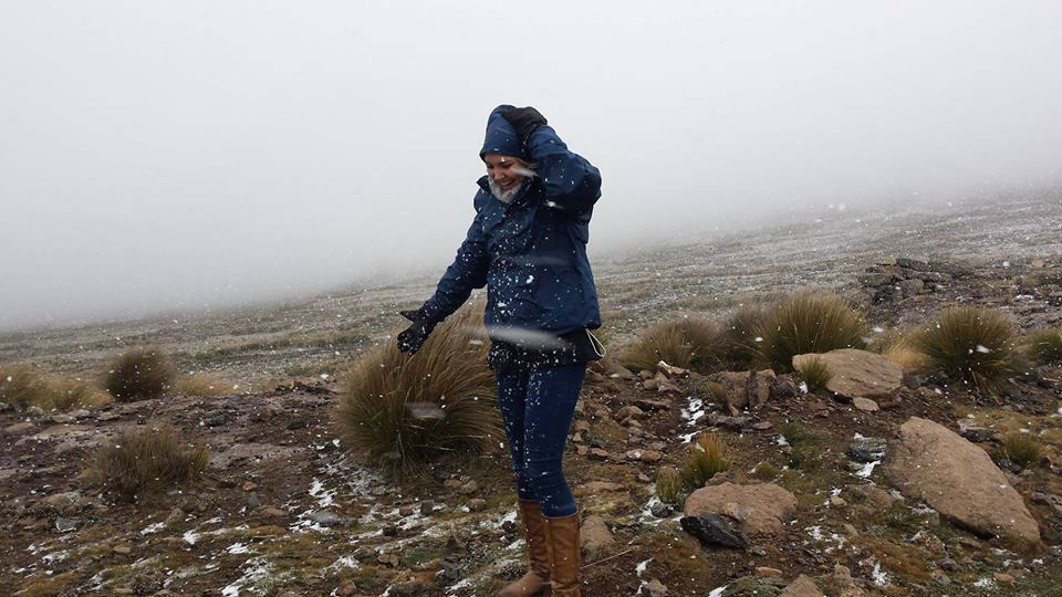 Snow on top of Sani Pass already!