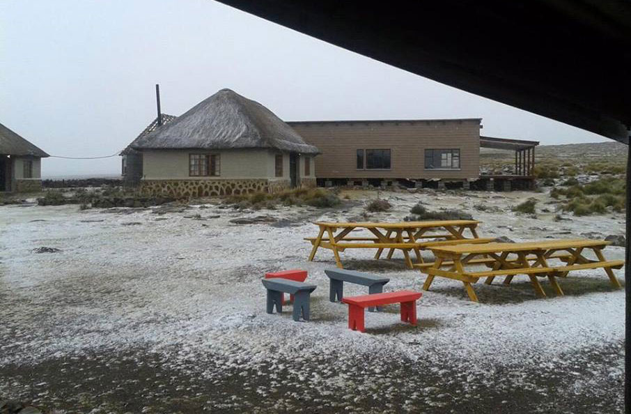 And Snow again on the top of Sani Pass