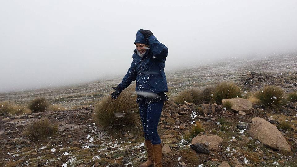 Snow on top of Sani Pass already!